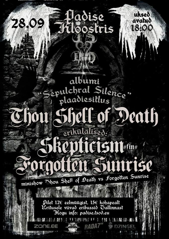 """Sepulchar Silence"" release show at Padise Monastery"